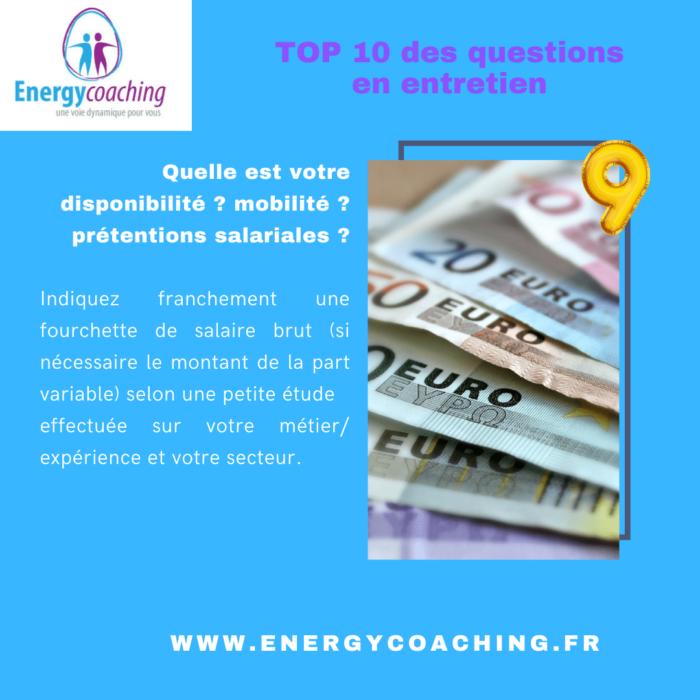 Questions entretien embauche - Prétentions salariales